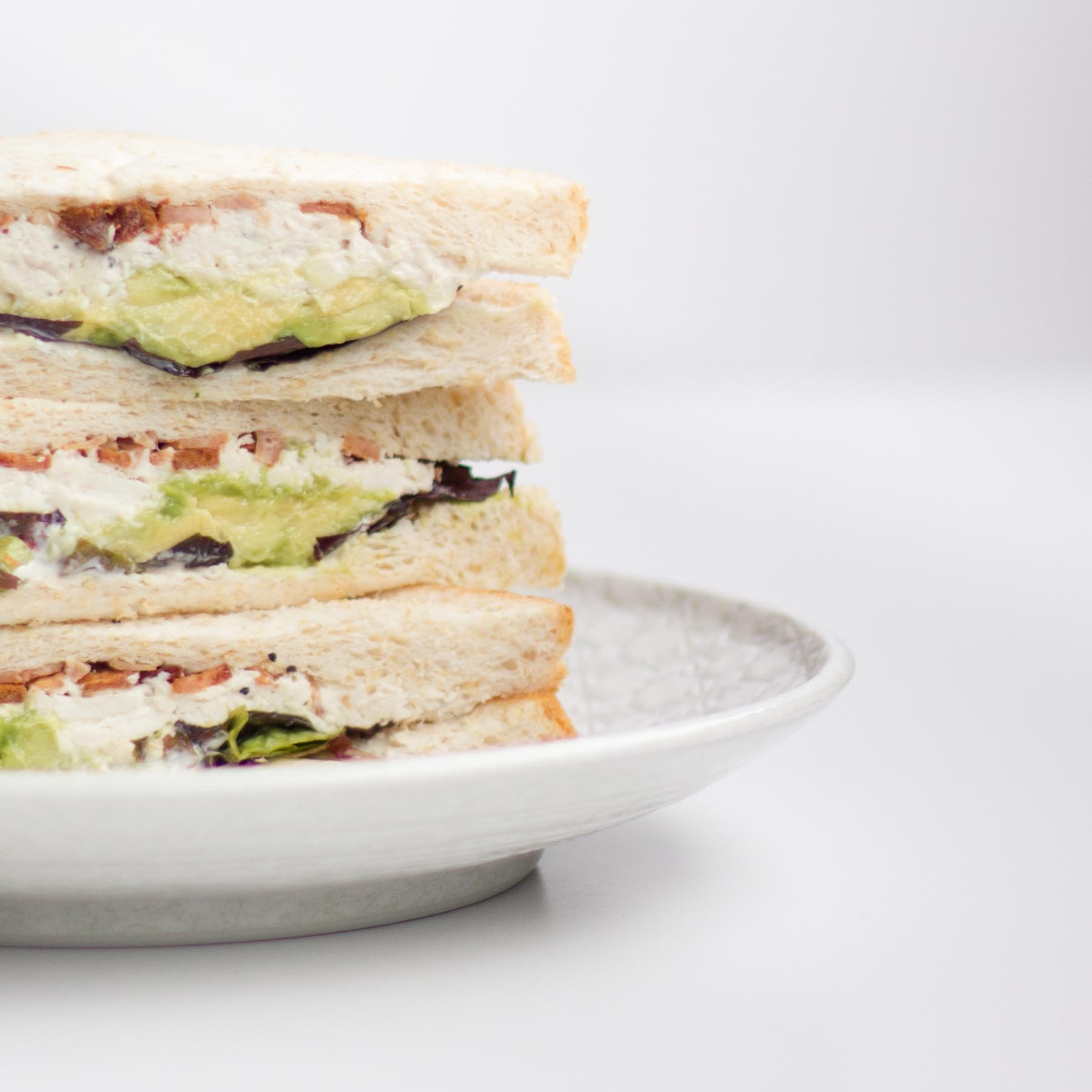 Nashi: chicken, avocado and bacon sandwich