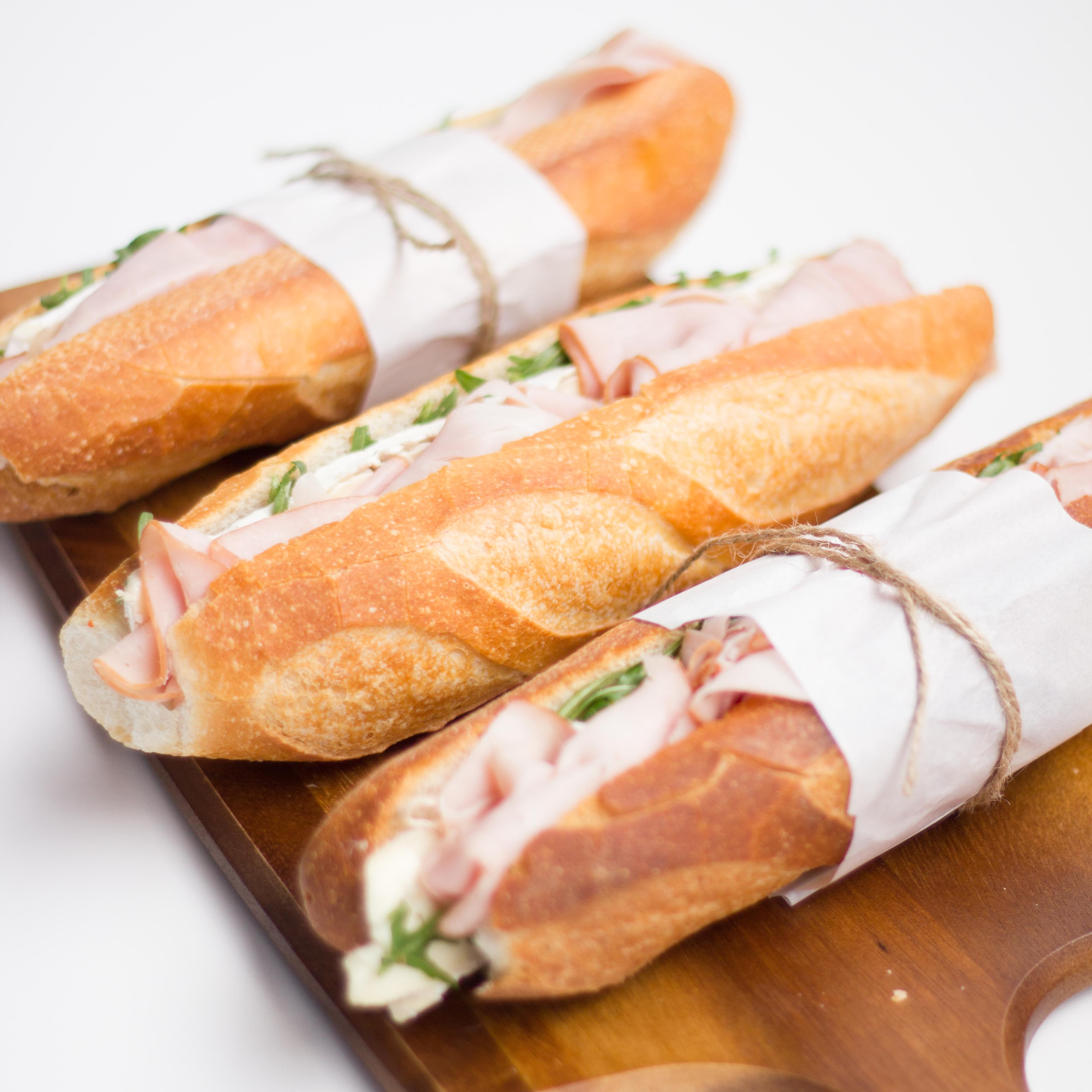 Nashi's ham and brie baguettes